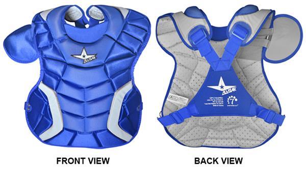 catcher chest protector shoulder